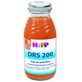 Диетична напитка с моркови и ориз, 3-5 месеца, стъклена бутилка 200 мл. Hipp 19633