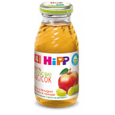 Био сок от ябълки и грозде, 3-5 месеца, стъклена бутилка 200 мл. Hipp 19635