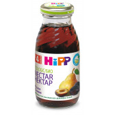 Био нектар от сливи, 3-5 месеца, стъклена бутилка 200 мл. Hipp 19638