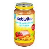 Пюре от зеленчуци, спагети и пилешко месо, 1+ години, бурканче 250 гр. Bebivita 19649