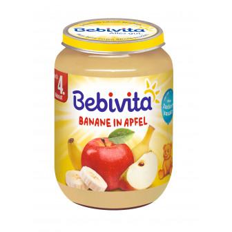 Пюре от ябълка и банан, 3-5 месеца, бурканче 190 гр. Bebivita 19652