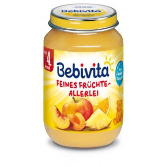 Пюре от различни плодове, 3-5 месеца, бурканче 190 гр. Bebivita 19653