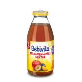 Нектар от ябълки и сливи, 3-5 месеца, стъклена бутилка 200 мл. Bebivita 19664