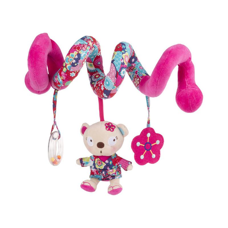 Дрънкалка за кошара или количка, розова, за момиче  20593