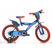 "Детско колело с помощни колела ""спайдърмен"" 16"" Dino Bikes 20699"
