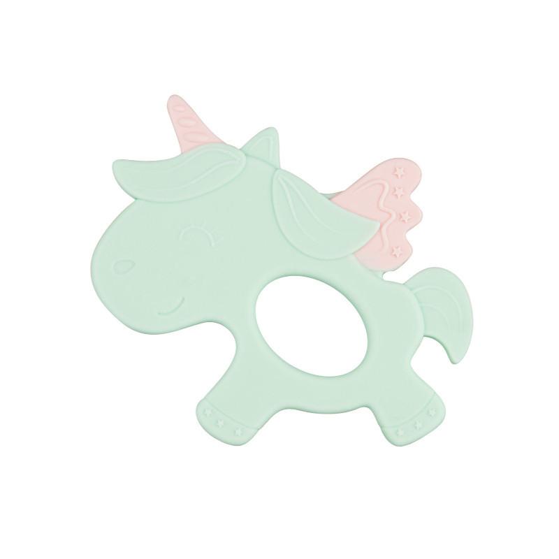 Силиконова чесалка, Unicorn, зелена  211137