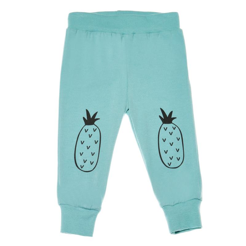Панталон с принт на ананаси за бебе - унисекс  214149