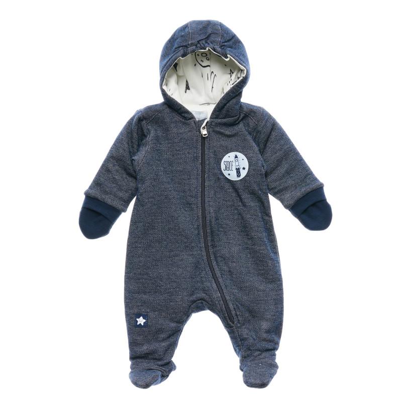 Памучен космонавт с качулка и ръкавички за бебе момче  216369