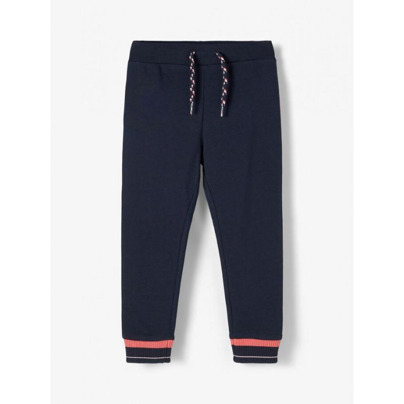 Панталон от органичен памук, тъмно син  218423