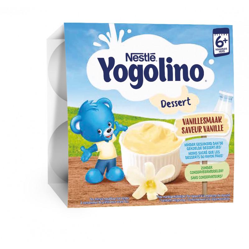 Yogolino Млечен десерт Ванилия- Nestle, 6+ месеца, кофичка 4 х 100 гр.  219907