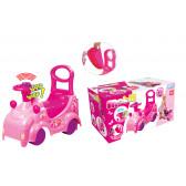 Количка със седалка и кормило в розов цвят Mochtoys 2281