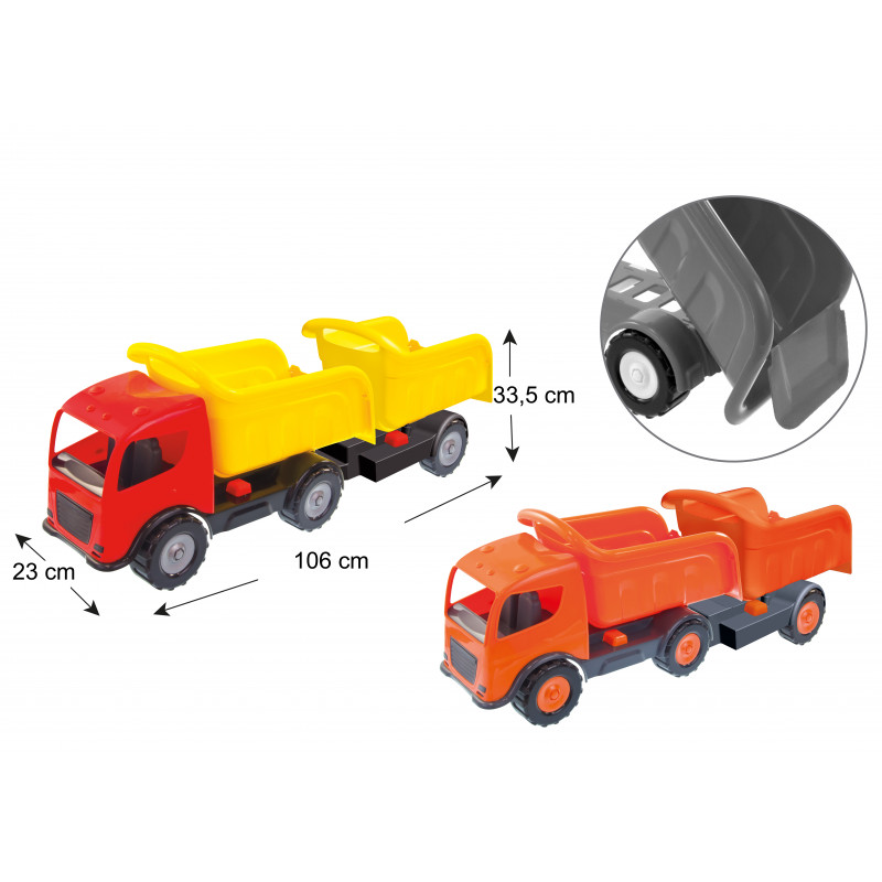 Камион с две ремаркета, BIG auto  2289