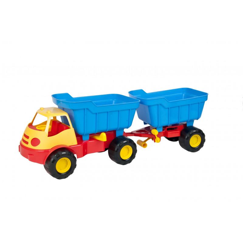 Детски камион с ремарке и кофа  2299
