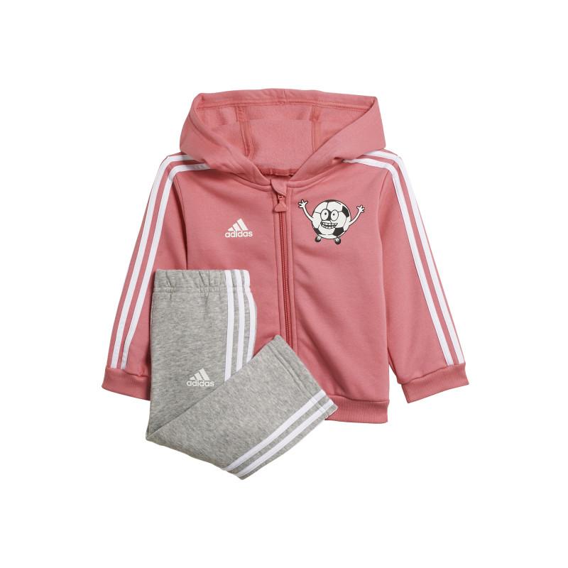 Спортен комплект от две части в розово и сиво  231092