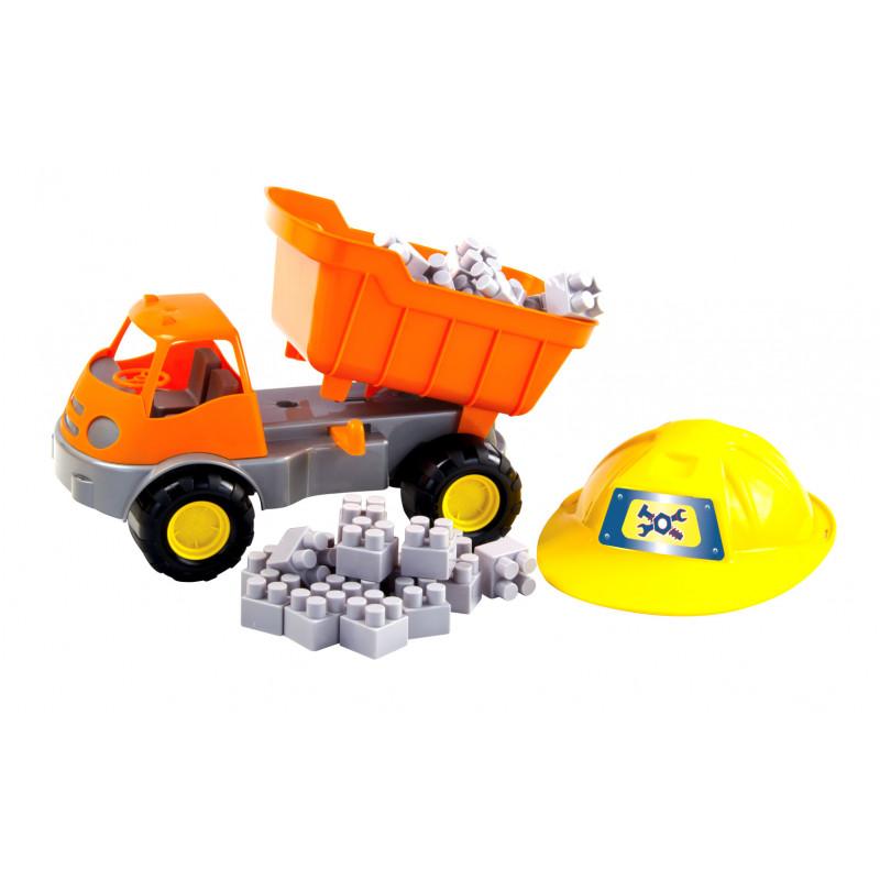 Конструктор с камион и каска 25  2311