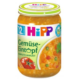 Био пюре зеленчукова яхния, 1+ години, бурканче 250 гр. Hipp 23174