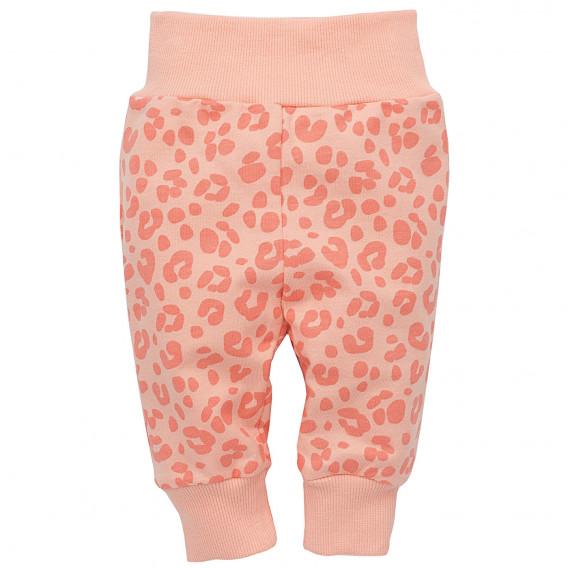 Памучен панталон с широк ластик за бебе момиче Pinokio 23181