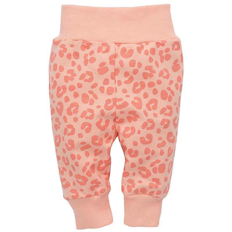 Памучен панталон с широк ластик за бебе момиче  23181