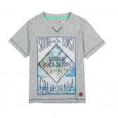 Памучна тениска за момче Boboli 23346