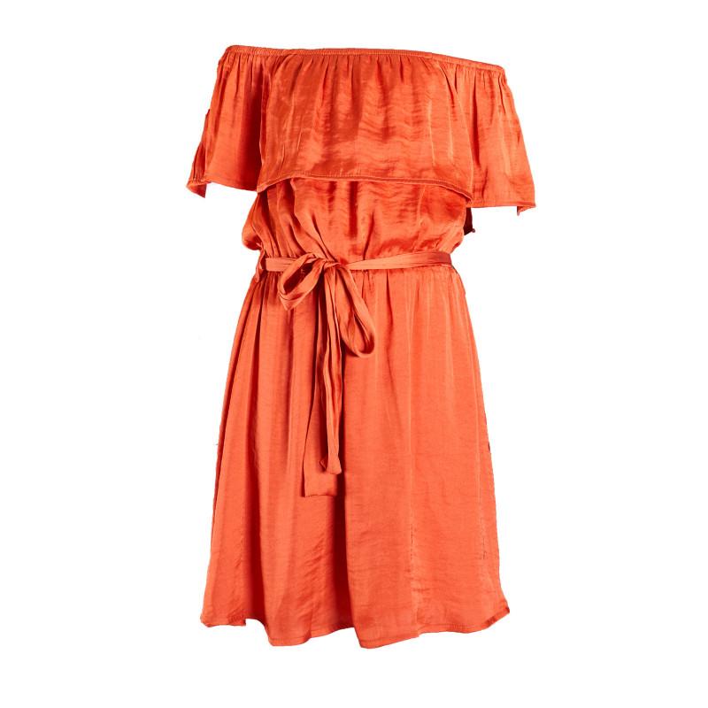 Официална рокля с паднало рамо  23464