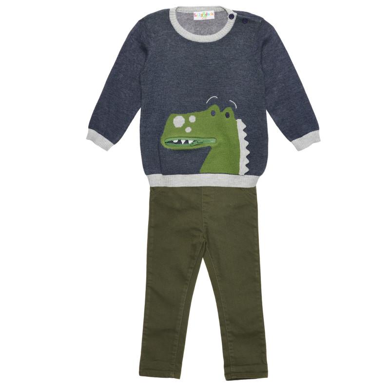 Комплект 2 части с принт на динозавър за момче  235900
