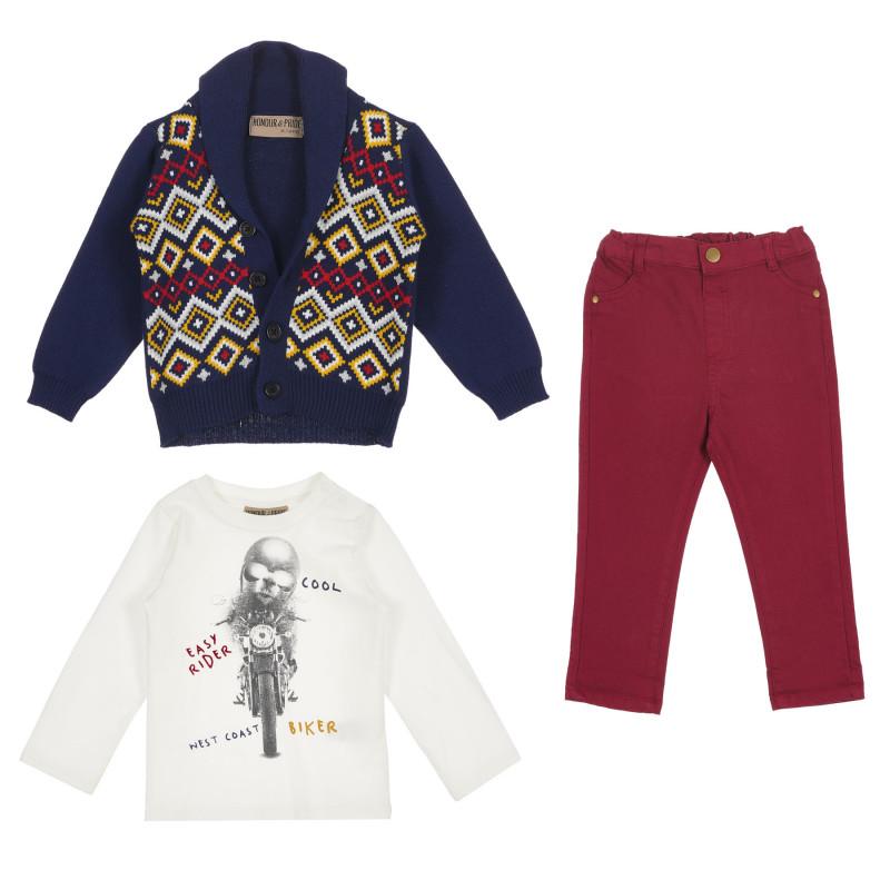 Комплект за момче с цветни мотиви  236330