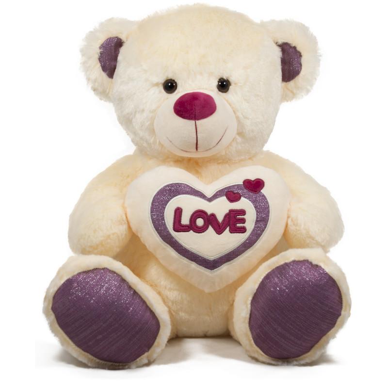 Плюшена играчка Мече със сърце, 50 см.  243787