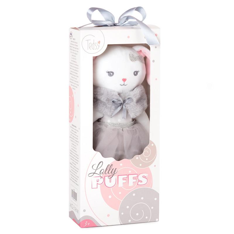 Плюшена играчка Кукла зайче с пачка, 32 см.  243813
