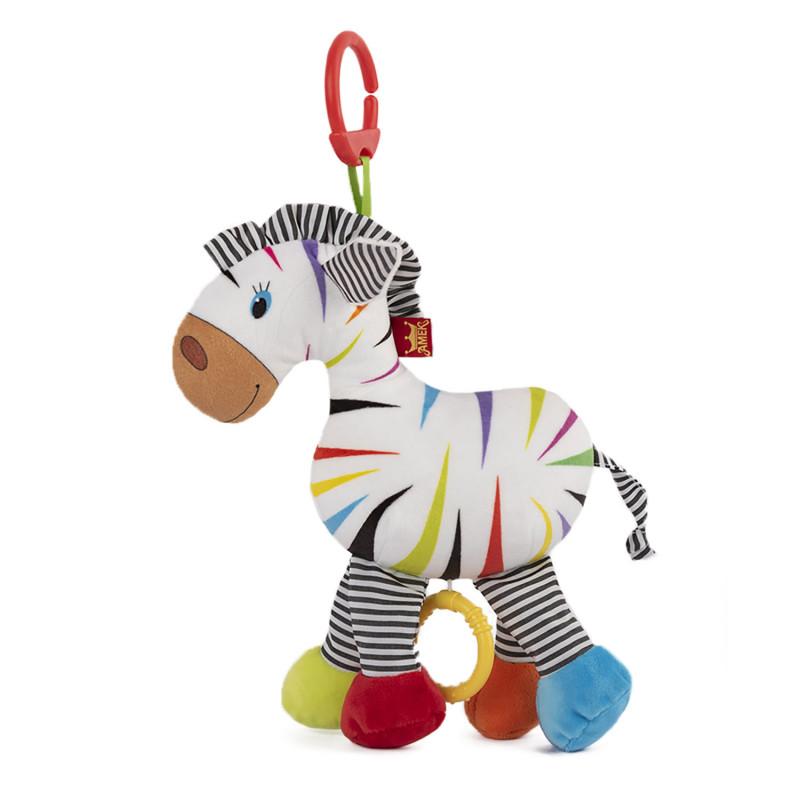 Плюшена музикална играчка Латерна зебра, 28 см.  243819