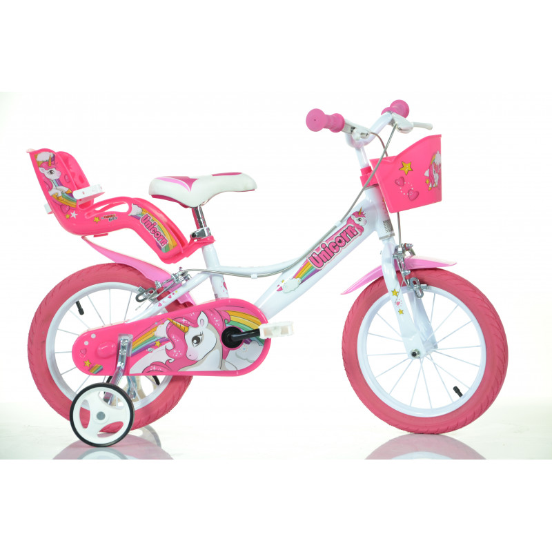 "Детски велосипед Unicorn 14"", бял  243857"