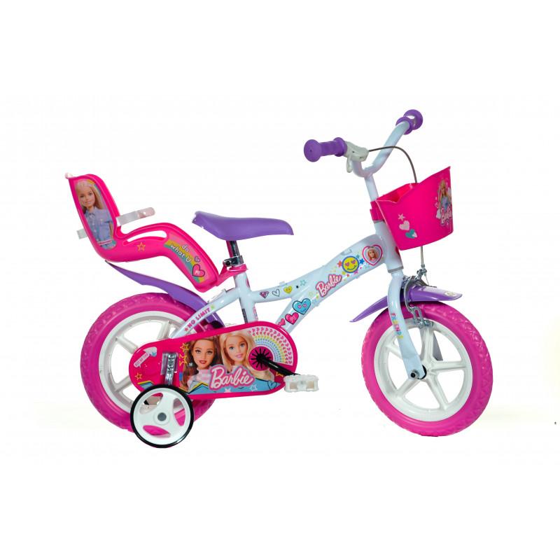 """Детски велосипед Barbie 12"""",бял  243859"""