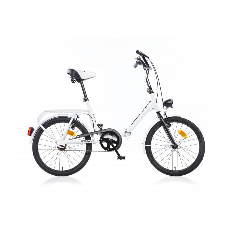 Сгъваем велосипед 20, бял  243865