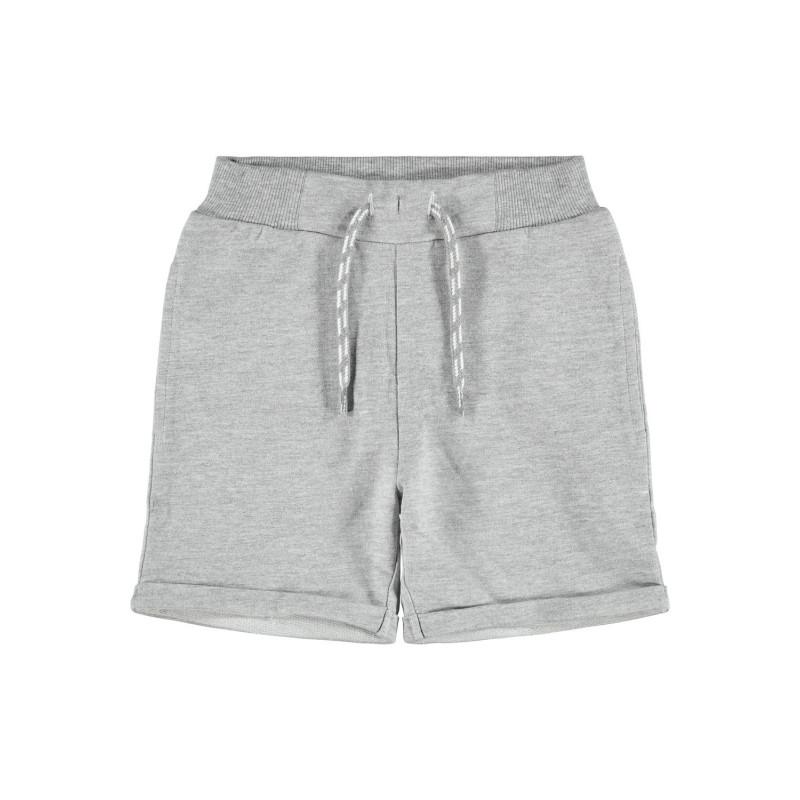 Къси панталони от органичен памук, сиво  244415