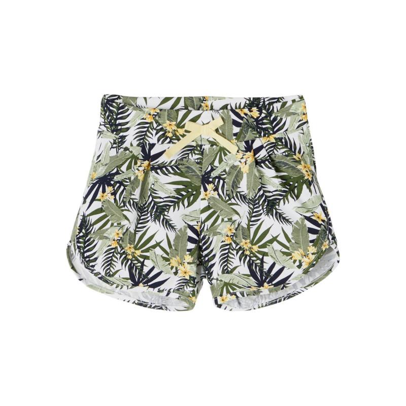 Къси панталони от органичен памук с флорален принт  244424