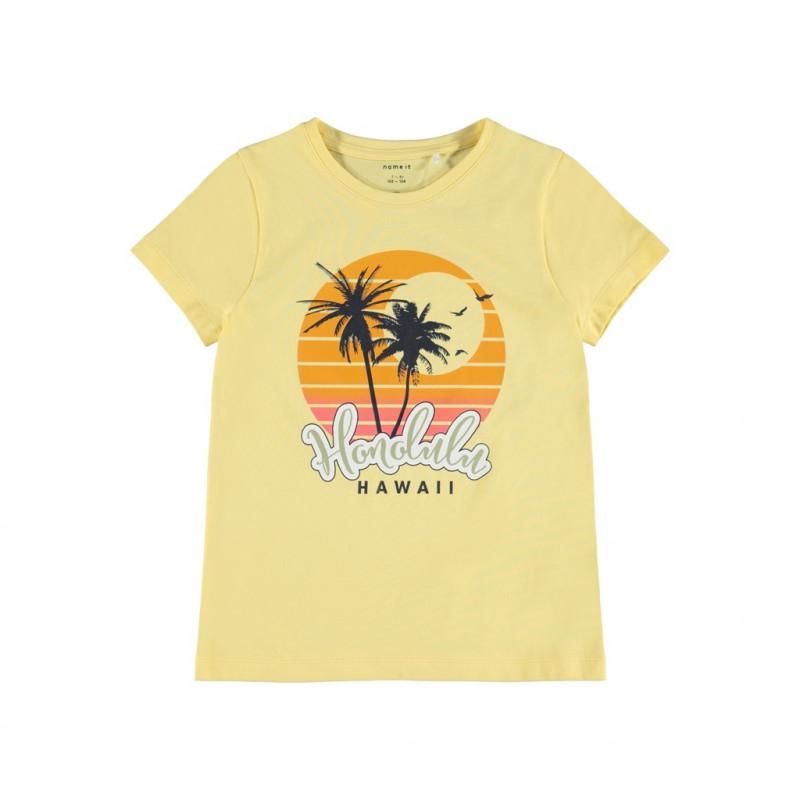 Комплект от органичен памук тениска и панталони, многоцветни  244433