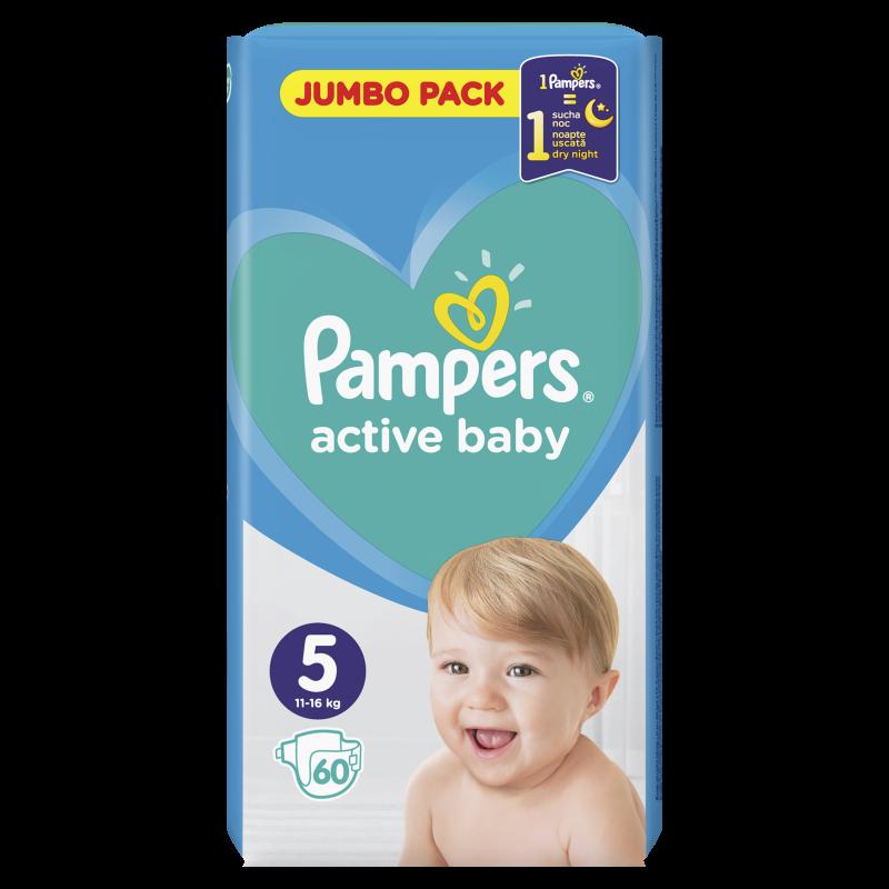 Пелени Active Baby Junior, Jumbo Pack размер 5, 60 бр.  244510