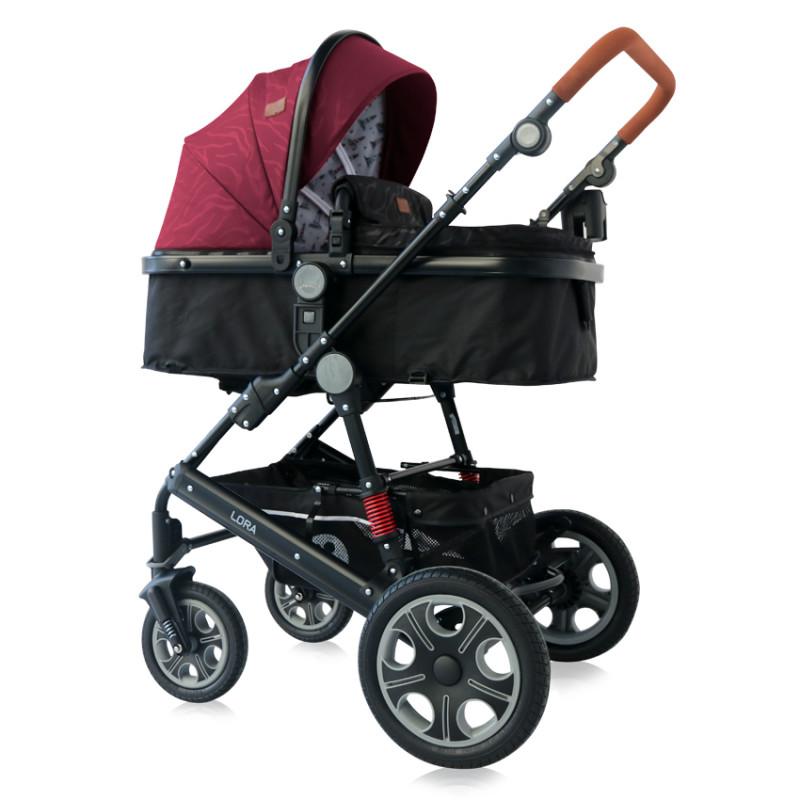 Комбинирана количка Lora Red & Black, 2 в 1  244548