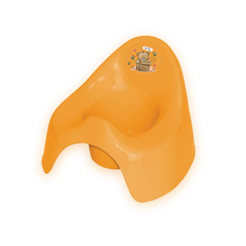 Детско гърне с облегалка, оранжево  244614