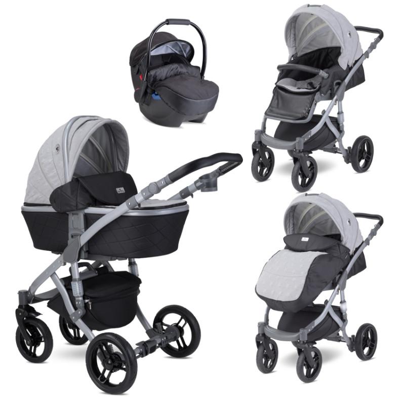 Комбинирана количка Rimini Premium Cool Grey, 2 в 1  244723