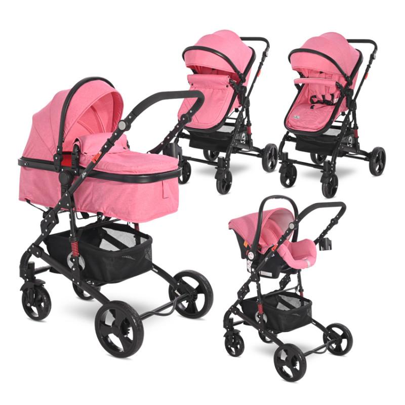 Комбинирана количка Alba Classic Set Candy Pink, 3 в 1  244793