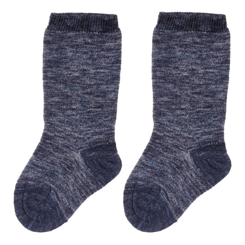 Чорапи за бебе в син меланж  244984