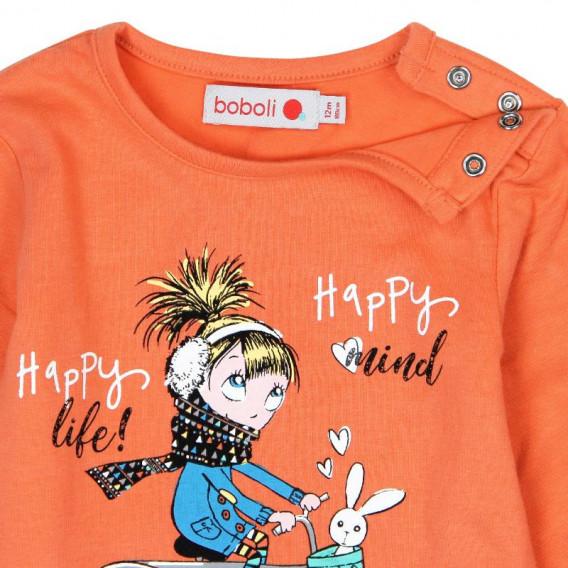 Блуза с дълъг ръкав за момиче Boboli 245 3