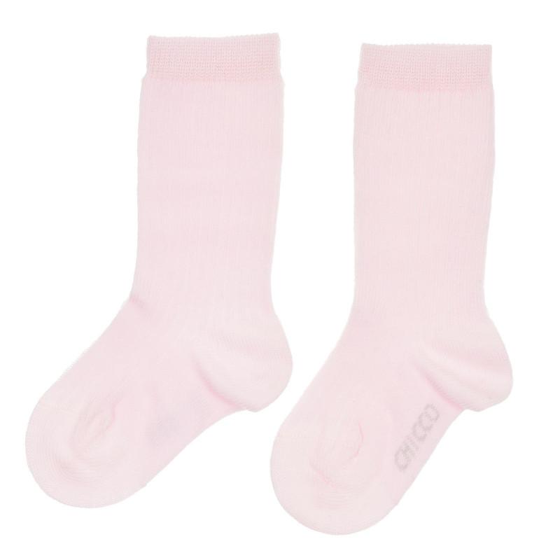 Чорапи с 3/4 дължина и логото на бранда, розови  245008