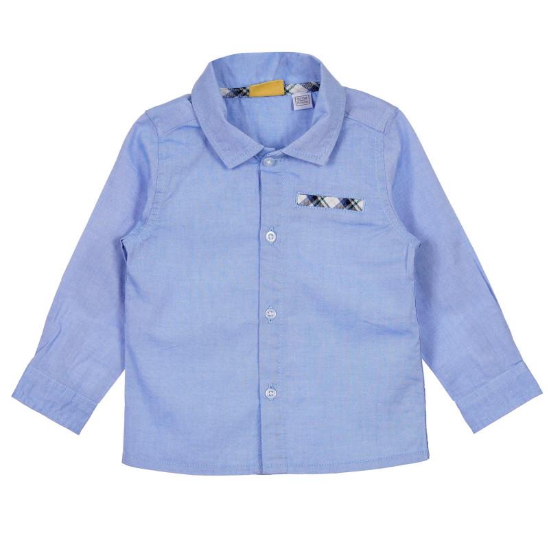 Памучна риза за бебе, синя  245205
