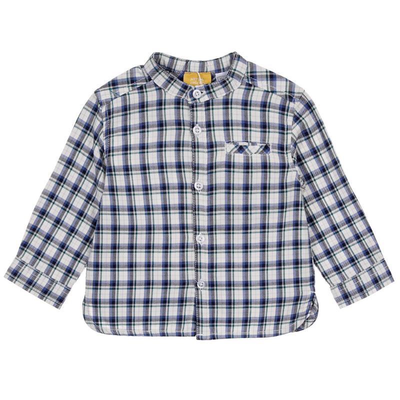 Памучна карирана риза за бебе  245209