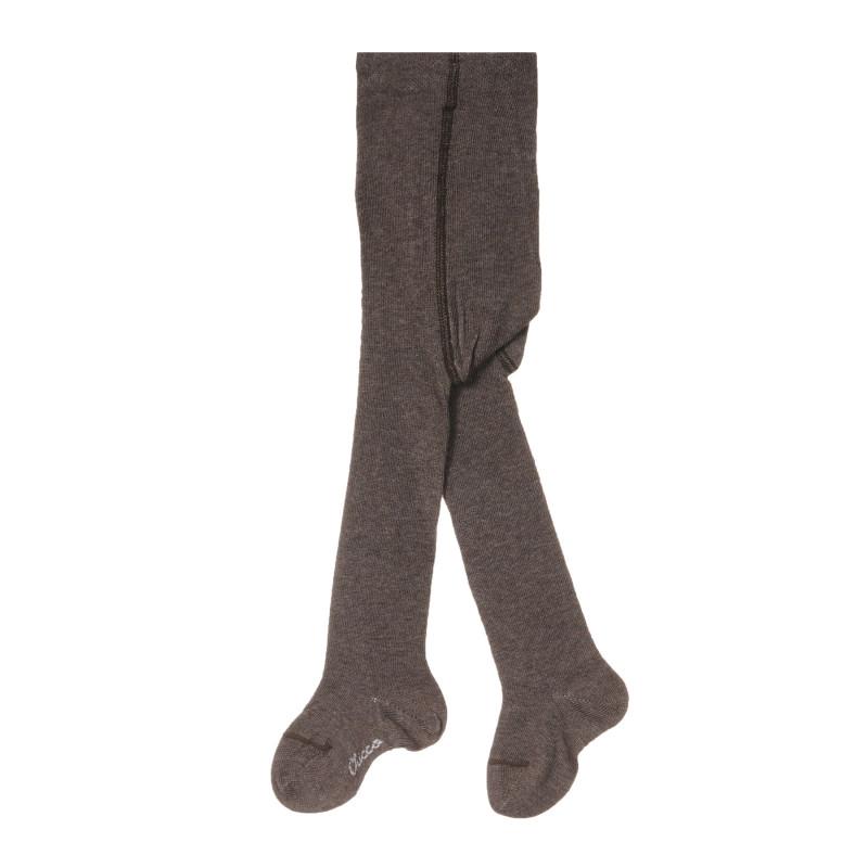 Памучен чорапогащник за бебе, кафяв  245257