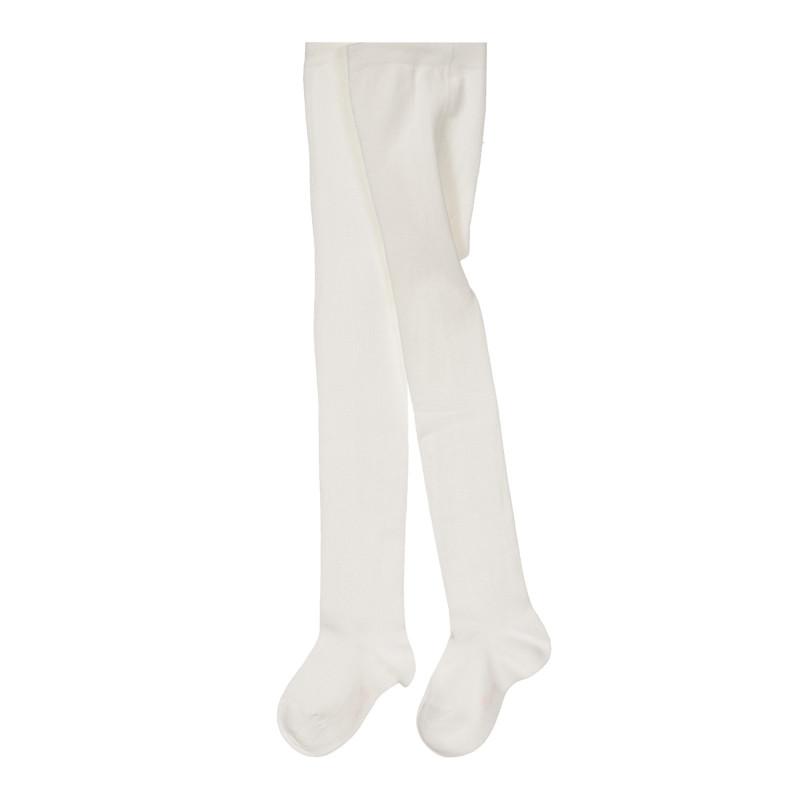 Памучен чорапогащник за бебе, бял  245261
