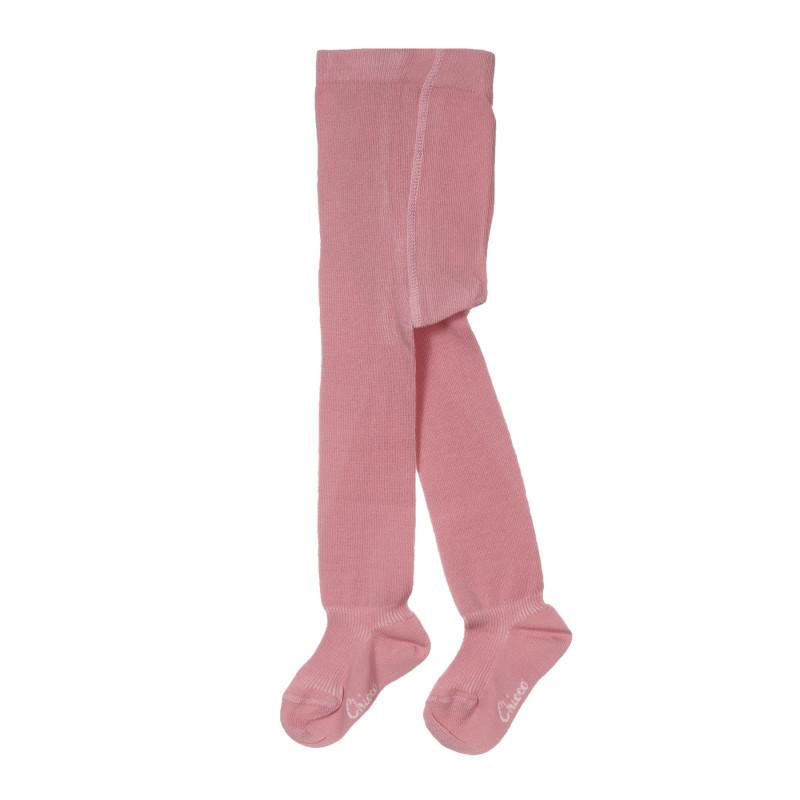 Памучен чорапогащник за бебе, розов  245336