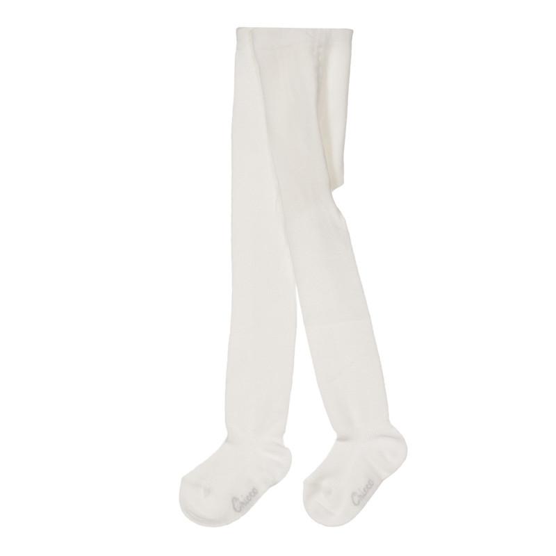 Памучен чорапогащник за бебе, бял  245338