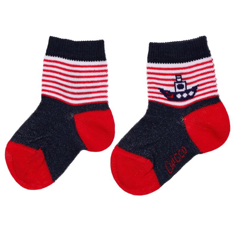 Чорапи с кораб за бебе, многоцветни  245444